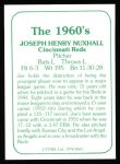 1978 TCMA The 1960's #65  Joe Nuxhall  Back Thumbnail