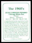 1978 TCMA The 1960's #79  Juan Pizarro  Back Thumbnail