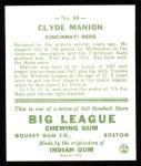 1933 Goudey Reprint #80  Clyde Manion  Back Thumbnail