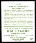1933 Goudey Reprint #48  Marty McManus  Back Thumbnail