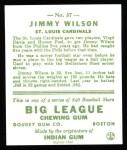 1933 Goudey Reprint #37  Jimmy Wilson  Back Thumbnail