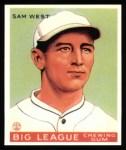 1933 Goudey Reprint #166  Sammy West  Front Thumbnail