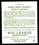 1933 Goudey Reprint #32  Bud Clancy  Back Thumbnail