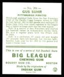 1933 Goudey Reprint #206  Gus Suhr  Back Thumbnail