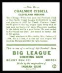 1933 Goudey Reprint #26  Chalmer Cissell  Back Thumbnail