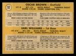 1971 O-Pee-Chee #52   -  Earl Williams / Oscar Brown Braves Rookies Back Thumbnail