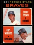1971 O-Pee-Chee #52   -  Earl Williams / Oscar Brown Braves Rookies Front Thumbnail