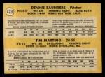 1971 O-Pee-Chee #423   -  Tim Marting / Dennis Saunders Tigers Rookies Back Thumbnail