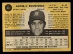 1971 O-Pee-Chee #464  Aurelio Rodriguez  Back Thumbnail