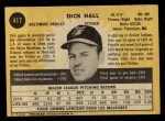 1971 O-Pee-Chee #417  Dick Hall  Back Thumbnail