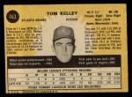 1971 O-Pee-Chee #463  Tom Kelley  Back Thumbnail