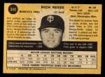 1971 O-Pee-Chee #349  Rich Reese  Back Thumbnail