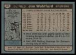 1980 Topps #448  Jim Wohlford  Back Thumbnail