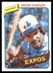 1980 Topps #235  Andre Dawson  Front Thumbnail