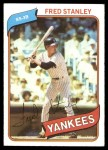 1980 Topps #387 RED Fred Stanley  Front Thumbnail