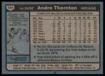 1980 Topps #534  Andre Thornton  Back Thumbnail