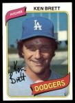 1980 Topps #521  Ken Brett  Front Thumbnail