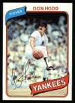 1980 Topps #89  Don Hood  Front Thumbnail