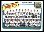 1980 Topps #259   -   Joe Torre Mets Team and Checklist  Front Thumbnail