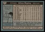 1980 Topps #413  Allen Ripley  Back Thumbnail