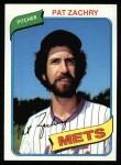 1980 Topps #428  Pat Zachry  Front Thumbnail