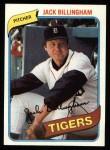 1980 Topps #603  Jack Billingham    Front Thumbnail