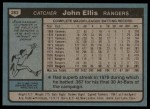 1980 Topps #283  John Ellis  Back Thumbnail