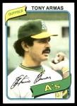 1980 Topps #391  Tony Armas    Front Thumbnail