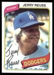 1980 Topps #318  Jerry Reuss  Front Thumbnail