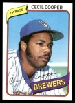 1980 Topps #95  Cecil Cooper  Front Thumbnail