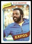 1980 Topps #395  Ellis Valentine  Front Thumbnail