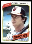 1980 Topps #188  Terry Crowley  Front Thumbnail