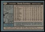 1980 Topps #291  Randy Scarberry   Back Thumbnail