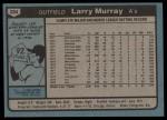 1980 Topps #284  Larry Murray    Back Thumbnail