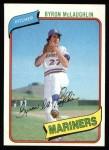 1980 Topps #197  Byron McLaughlin  Front Thumbnail
