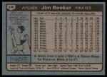 1980 Topps #694  Jim Rooker  Back Thumbnail