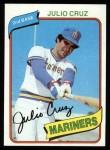 1980 Topps #32  Julio Cruz    Front Thumbnail