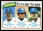 1980 Topps #679   -  Joe Beckwith / Mickey Hatcher / Dave Patterson  Dodgers Rookies Front Thumbnail