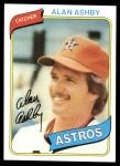 1980 Topps #187  Alan Ashby  Front Thumbnail