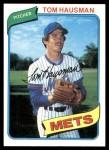 1980 Topps #151  Tom Hausman    Front Thumbnail