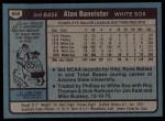 1980 Topps #608  Alan Bannister  Back Thumbnail