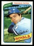 1980 Topps #705  Freddie Patek  Front Thumbnail