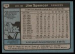 1980 Topps #278  Jim Spencer  Back Thumbnail
