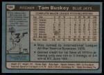 1980 Topps #506  Tom Buskey  Back Thumbnail