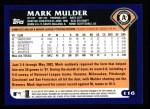 2003 Topps #116  Mark Mulder  Back Thumbnail
