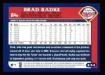 2003 Topps #434  Brad Radke  Back Thumbnail