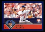 2003 Topps #385  Javier Vazquez  Front Thumbnail