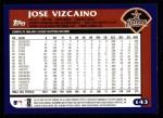 2003 Topps #143  Jose Vizcaino  Back Thumbnail