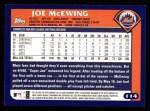2003 Topps #114  Joe McEwing  Back Thumbnail