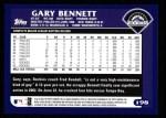 2003 Topps #198  Gary Bennett  Back Thumbnail